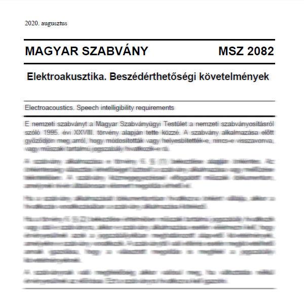 Megjelent a magyar elektroakusztikai szabvány